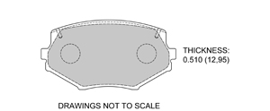 View Brake Pads with Plate #D635
