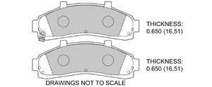 View Brake Pads with Plate #D652