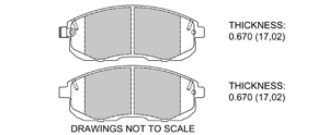 View Brake Pads with Plate #D653