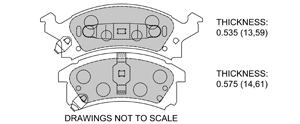 View Brake Pads with Plate #D673