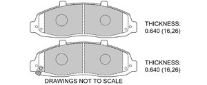 View Brake Pads with Plate #D679