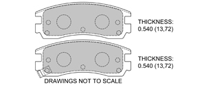 View Brake Pads with Plate #D698