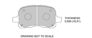 View Brake Pads with Plate #D741