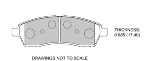 View Brake Pads with Plate #D757