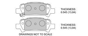 View Brake Pads with Plate #D770