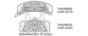 View Brake Pads with Plate #D789