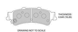 View Brake Pads with Plate #D792