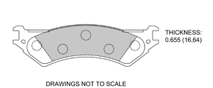 View Brake Pads with Plate #D802