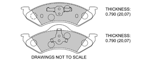 View Brake Pads with Plate #D820