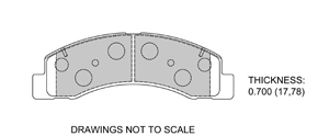 View Brake Pads with Plate #D824