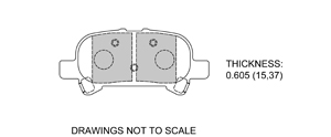 View Brake Pads with Plate #D828