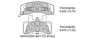 View Brake Pads with Plate #D845