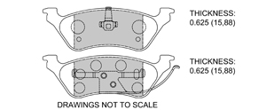 View Brake Pads with Plate #D858