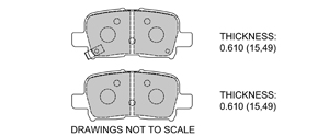 View Brake Pads with Plate #D865