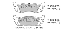 View Brake Pads with Plate #D879