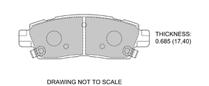 View Brake Pads with Plate #D883
