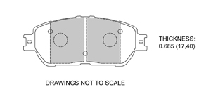 View Brake Pads with Plate #D906A