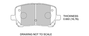 View Brake Pads with Plate #D923