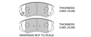View Brake Pads with Plate #D924
