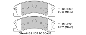 View Brake Pads with Plate #D945