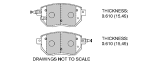 View Brake Pads with Plate #D969