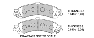 View Brake Pads with Plate #D975