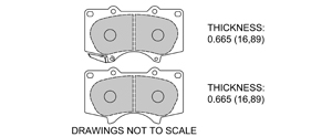 View Brake Pads with Plate #D976