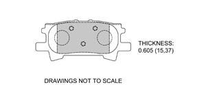 View Brake Pads with Plate #D996