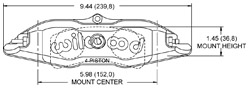 Dimensions for the Billet Narrow Superlite 4