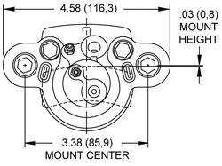 Dimensions for the DH4 Dual Hydraulic