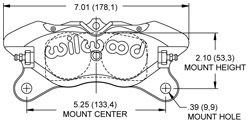 Dimensions for the Dynapro Lug Mount