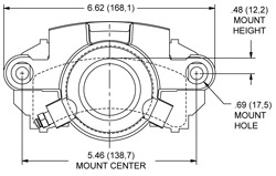 Dimensions for the GM-Metric-Iron Single Piston Floater