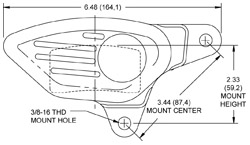 Dimensions for the GP300 Motorcycle Front (1984-1999)