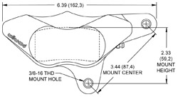 Dimensions for the GP310 Motorcycle Front
