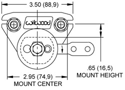 Dimensions for the Mech Spot Caliper