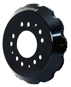 Big Brake Hat - Flared Bell - Aluminum - Black E-Coat