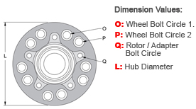 Hub - Solid Rotor Offset Drawing