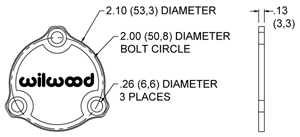 Starlite 55 LW Drive Flange Dust Cap  Side View Drawing