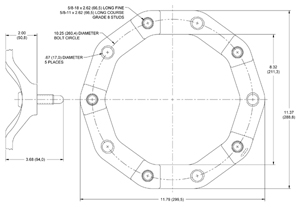Wide 5 - Wheel Spacer Drawing