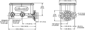 Compact Tandem Master Cylinder Drawing
