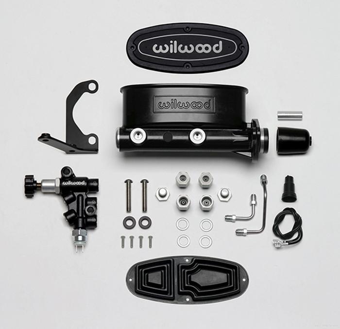 Wilwood 261-13270-BK Aluminum Tandem master cylinder Kit for Chrysler, Corvette