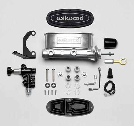 Wilwood Aluminum Tandem M/C w/Bracket and Valve (Mustang)