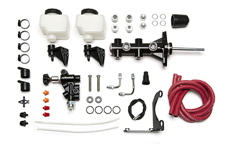 Wilwood Remote Tandem M/C Kit w/Pushrod, Bracket and Valve