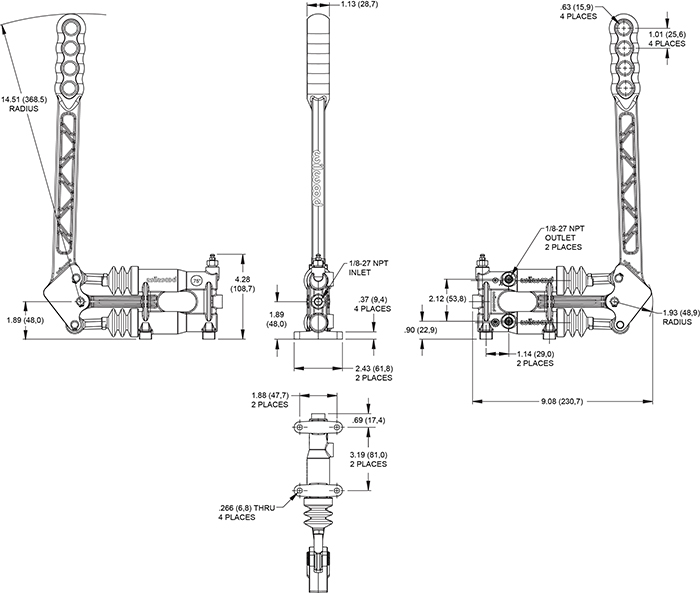 Hand Cutting Brake Assembly Drawing