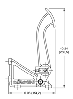 Superseded by forged aluminum arm adjustable pedal 340-13831 Drawing