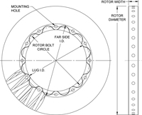 C/SiC Rotors Dimension Diagram