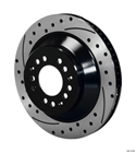 SRP Drilled Rotor - Iron - Black Electro Coat