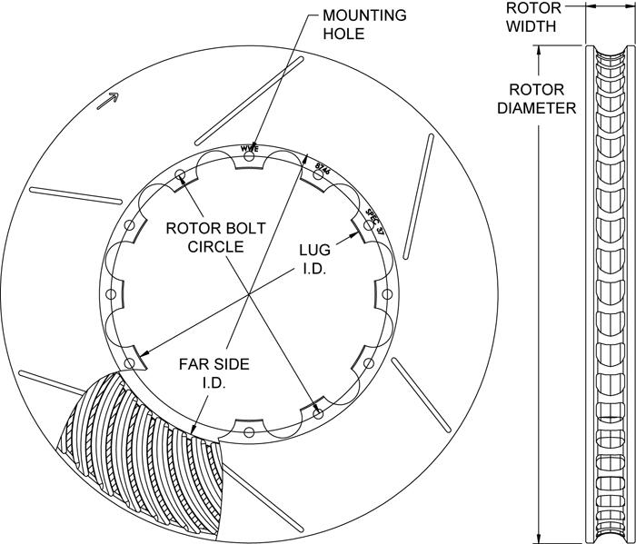 wilwood disc brakes rotor no 160 8747. Black Bedroom Furniture Sets. Home Design Ideas