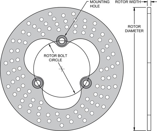Aluminum Sprint / Midget Rotor-3H