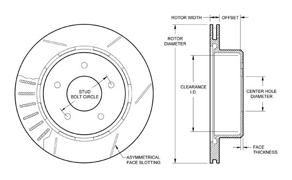 wilwood disc brakes rotor no 160 8743 test rh wilwood com Rear Brake Assembly Diagram brake pads rotors diagram